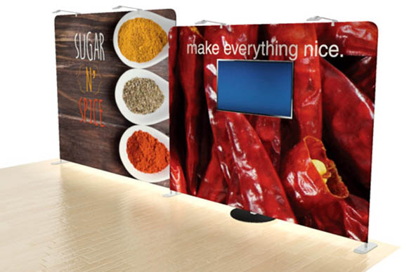 Dimensions Portable Tension Fabric Displays