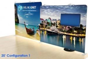 10' x 20' Portable Tension Fabric Display Kit