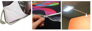 Tension fabric graphic installation