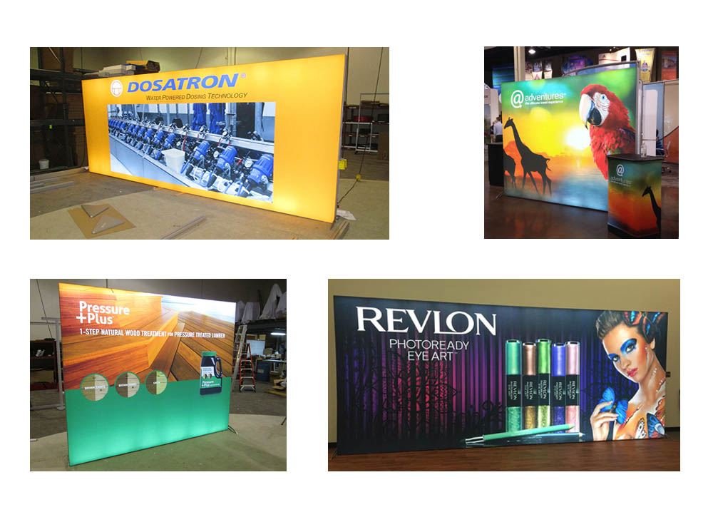 backlit tension fabric displays